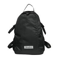 日系双肩包男女大容量学生书包帆布背包运动户外轻便旅行包潮