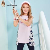 【3件3折:79.5元】暇步士童装女童裙式上衣夏装新款儿童背心卡通洋气中大童T恤