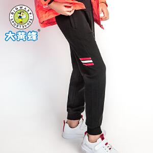 大黄蜂童装 女童裤子2018秋季新款韩版女孩休闲裤小学生运动裤潮