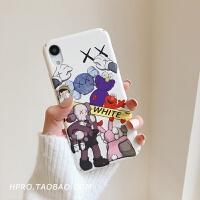 网红卡通8plus苹果x手机壳XS Max/XR/iPhoneX/7p/6女iphone6s情侣 6/6s 白底芝麻街