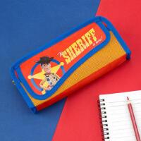 广博迪士尼玩具总动员笔袋一年级小男孩小学生hellokitty凯蒂猫铅笔盒女网红双层文具袋简约学生大容量可爱男