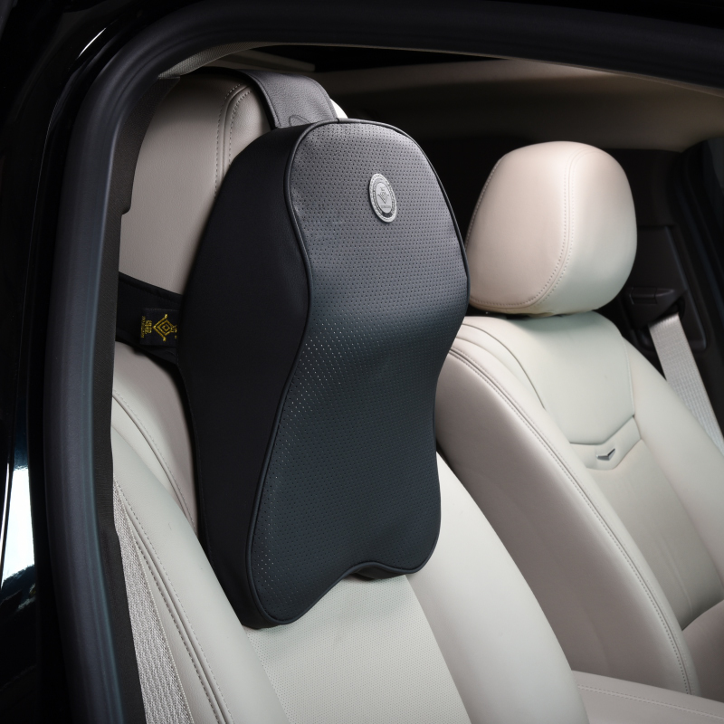 丰田新卡罗拉雷凌凯美瑞专用真皮记忆棉汽车座椅护腰靠垫头枕套装