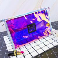 化妆包透明防水大容量便携多功能韩国小号简约可爱少女收纳包