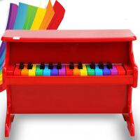 ?儿童小钢琴早教玩具宝宝木质25键机械婴幼儿钢琴生日礼物 (彩虹系列)