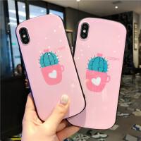 20190610184807499粉色仙人掌苹果x/xsmax手机壳iPhonexr/7plus椭圆形6s/8p硅胶软