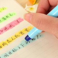 创意文具 6色8色彩色记号笔重点荧光标记笔果冻固体荧光笔学生用