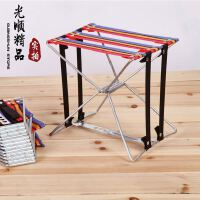 超便携式折叠钢丝凳 折叠凳 钓鱼凳铁凳子排队钢筋凳