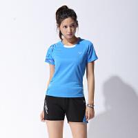 速干乒乓球羽毛球服运动套装男女圆领短袖上衣半袖训练服印字