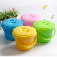 瑞达多功能颜料水桶水彩水粉画桶水粉颜料洗笔桶洗笔筒调色盘