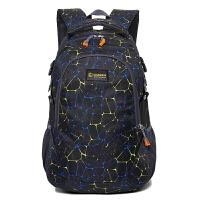 双肩包运动背包男女大容量撞色条纹时尚旅行包户外旅游行李出差包