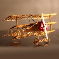 3D金属立体拼装模型 DIY二战福克飞机拼图