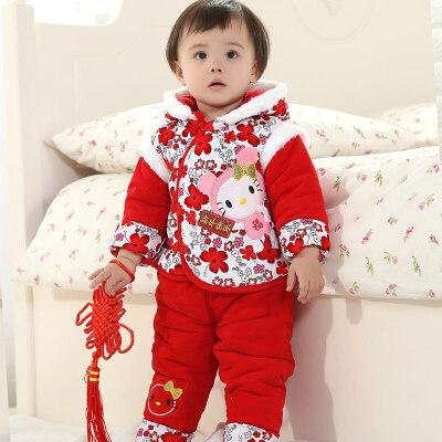 女宝宝唐装婴儿冬装加厚棉衣套装3-6-12个月一两岁半周岁0-1-2岁 发货周期:一般在付款后2-90天左右发货,具体发货时间请以与客服协商的时间为准