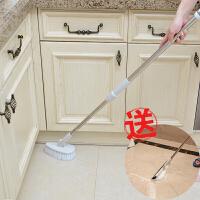 地板刷子浴缸卫生间硬毛瓷砖洗地地刷厕所去死角长柄大浴室清洁刷