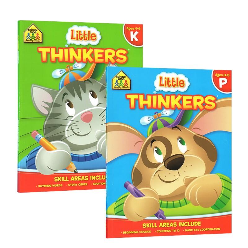【秒杀价¥39.9】【3-6岁思维练习2册】School Zone Preschool/Kindergarten Little Thinker 幼儿早教逻辑思维 英文原版