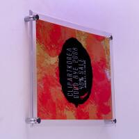 挂墙亚克力水晶相框 有机玻璃 10 12寸A4 16寸证书奖状框定制尺寸