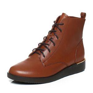 Teenmix/天美意2017冬季小牛皮英伦学院风马丁靴女靴CBJ43DD7