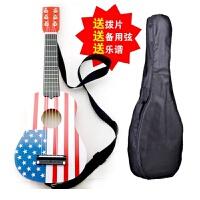 21寸木制儿童吉他它儿童乐器6弦吉它声乐练习可弹奏送拨片乐谱a120