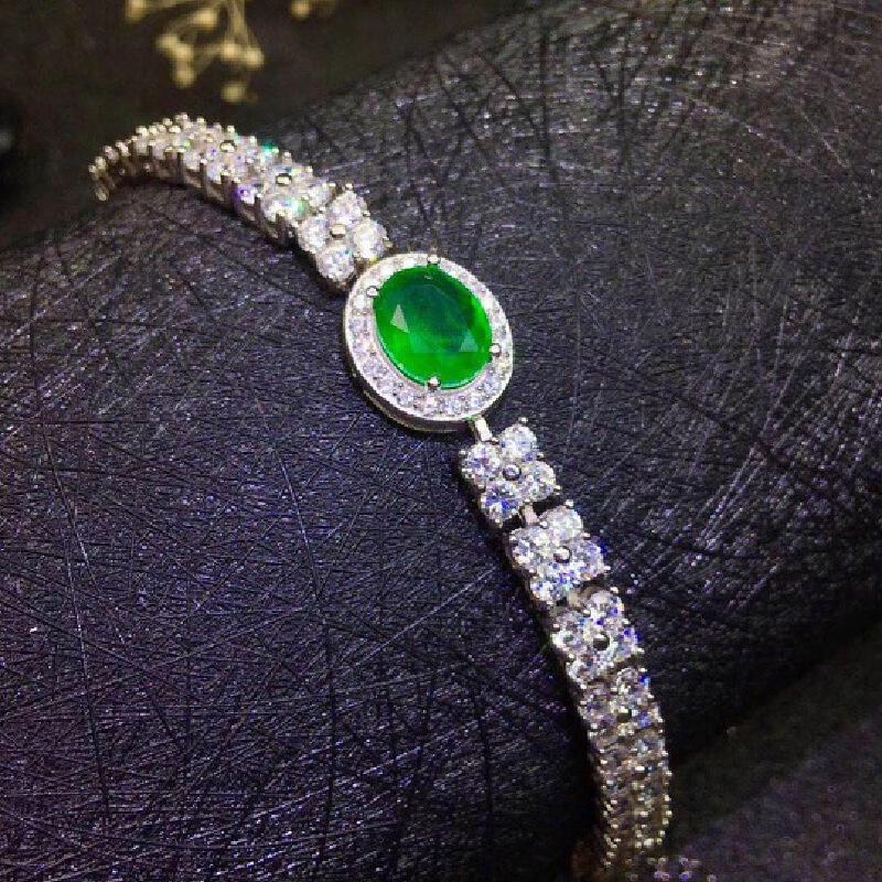 天然祖母绿手链,精工镶嵌祖母绿被称为绿宝石之王
