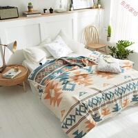 双人纱布提花盖毯纯棉午睡毯子2.0m全棉毛巾被沙发毯空调毯 安贝拉 200*230