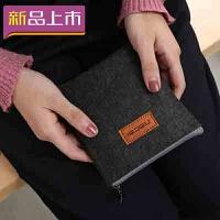 2018韩版毛毡收纳包移动电源收纳袋移动硬盘包数据线充电器耳机包