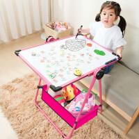 小黑板宝宝小孩家用写字白板儿童画画板画架可升降双面磁性支架式