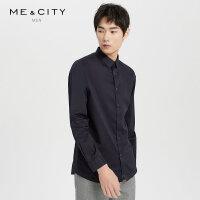 【1件2折到手价:89.8】MECITY男装春季新款全棉斜纹商务时尚长袖衬衫潮流