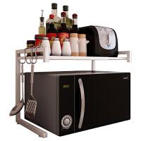 伸缩厨房置物架 微波炉烤箱架收纳储物架落地多层省空间灶台面架