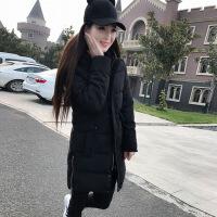 棉衣男士外套中长款冬季2018新款青 03棉衣黑女