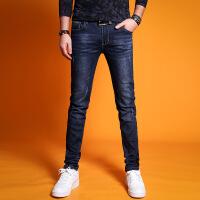 牛仔裤男小脚裤春夏季休闲潮流男裤子 青年弹力薄款修身直筒长裤