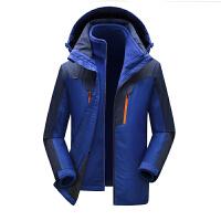 冬季冲锋衣男女三合一两件套户外加绒加厚保暖防水登山服