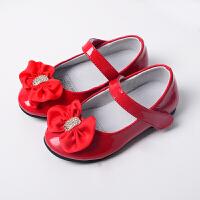 女童鞋夏公主鞋皮鞋 礼服皮鞋红色凉鞋