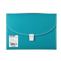 Foldermate/富美高 10878 13格手提风琴包 彩色条码纹 蓝色 A4文件夹12格多层文件包办公学生学习文