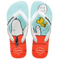 havaianas春夏新品男女亲子款人字拖史努比系列拖鞋哈瓦那Snoopy白色0001