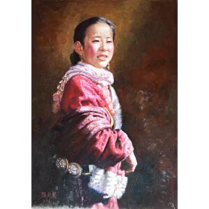 C059   陈兆梁  《藏族姑娘》