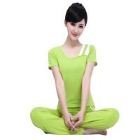 健身套装韩版瑜伽服长袖套装新款 中长袖套装 运动健身瑜伽服 XL(16