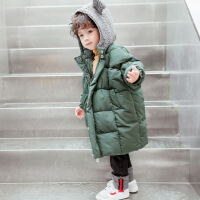 №【2019新款】冬天儿童穿的男童棉衣儿童羽绒宝宝冬装外套小童装中长款棉袄5潮3