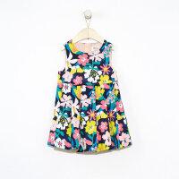 【1件3折价:80.7】moomoo童装女童无袖连衣裙新款春装洋气印花中大儿童裙子