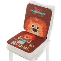 20191209191747920卡通儿童餐椅增高坐垫小学生坐垫宝宝安全椅垫座椅加厚加高椅子垫 棉麻布