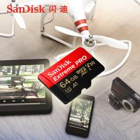Sandisk�W迪超�O速TF卡 64g V30 A1 4K存��卡Sandisk Extreme pro 64G 100M