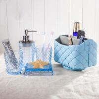 卫浴五件套洗漱杯漱口杯四件套玻璃欧式浴室用品套件洗漱套装