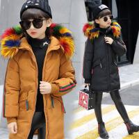 童装女童棉衣加厚2017冬装新款韩版中大童中长款棉服儿童棉外套 BD916