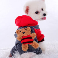 【支持礼品卡】泰迪比熊猫咪春夏宠物四脚衣小狗狗衣服春夏装薄款小型犬幼犬 hf5