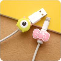 5个装数据线保护套可爱卡通创意苹果手机充电线套图案随机