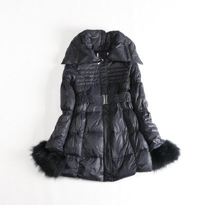 冬装女中长款羽绒服 可脱卸真毛圈修身腰带韩版保暖外套43B 发货周期:一般在付款后2-90天左右发货,具体发货时间请以与客服商的时间为准