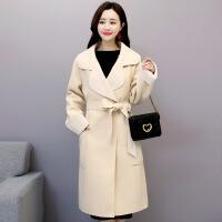 毛呢外套女士2018冬季新款韩版中长款气质收腰显瘦时尚过膝呢大衣