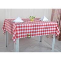 格子桌布布艺野餐布田园茶几布长方形圆桌酒店台布绿色红色格子布 红色 大红白格