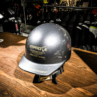 复古摩托车头盔电动车棒球帽男女夏盔半盔哈雷风冬季优惠机车潮牌 均码