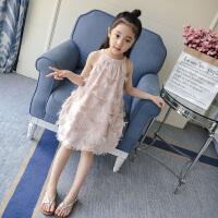 夏装童装吊带连衣裙韩版背心裙公主裙中大童洋气裙子