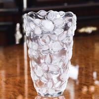 创意透明玻璃花瓶水培植物花器婚庆浪漫玫瑰花插花艺摆件家装饰品