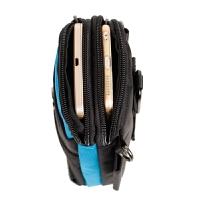 5.5寸6寸6.5寸小米max男手机腰包竖款多功能户外女手机袋 挂腰包 蓝色 挂钩+单肩带